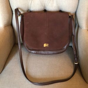 Ralph Lauren Suede/Leather Satchel Crossbody